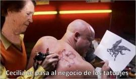MEME Cecilia tatoo Ecce Homo