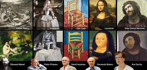 ecce homo restauración arte