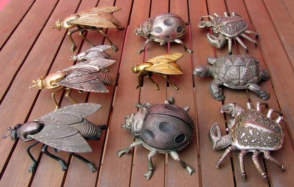 Colección vintage Entre y Salga Ashtray Insect