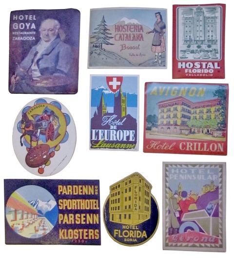 etiquetas hoteles vintage coleccionista