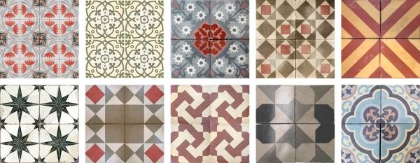 Mosaico baldosa hidráulica Entre y Salga suelos decoración